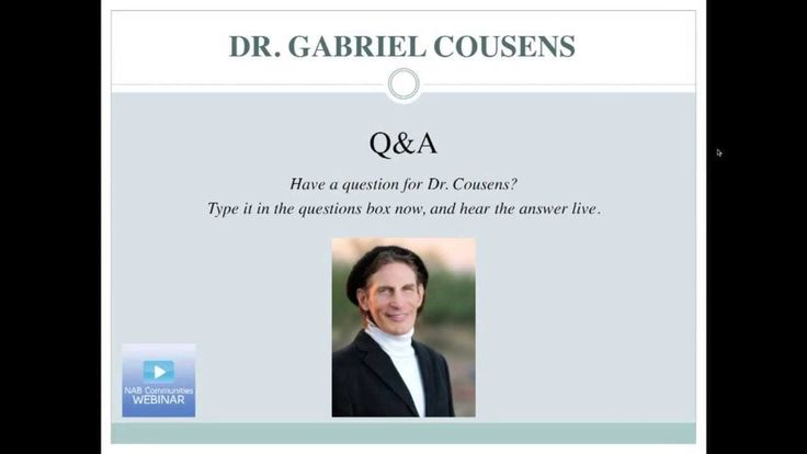 Dr. Gabriel Cousens Webinar - How to Cure Diabetes Naturally - Hosted by...