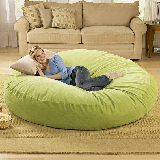 I want one of these right in the middle if the living room...it's like a dog bed for humans.