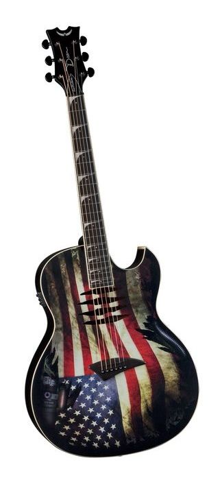 Dean Dave Mustaine Mako Glory Acoustic-Electric Guitar Flag Graphic (via Musician's Friend)
