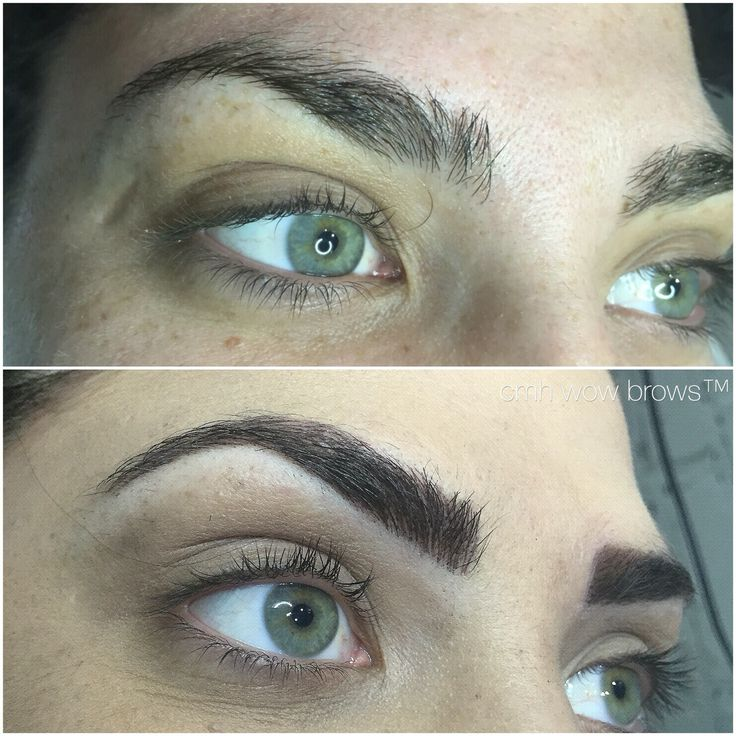 11 best tattooed eyebrows images on pinterest tattooed for Eyebrow tattoo microblading