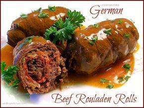 """Olde Worlde German Beef Rouladen Rolls with Gravy (""""Rindsrouladen"""") - Wildflour's Cottage Kitchen"""