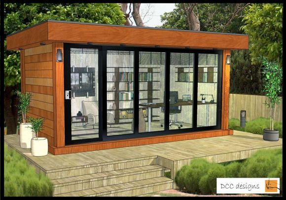 Dccdesigns garden office pods new ways of living for Garden office pod