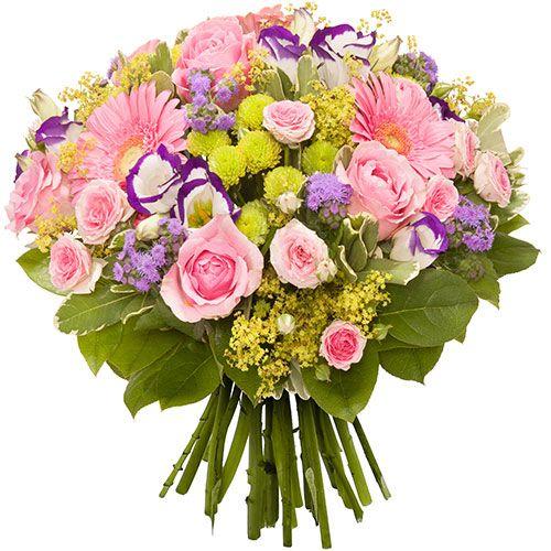 Tendrissime brassée de fleurs aux teintes juvéniles. Travaillé en abondance ce joli bouquet aux couleurs pastel séduit par son homogénéité de tons avant de subjuguer par le mariage de ses essences.