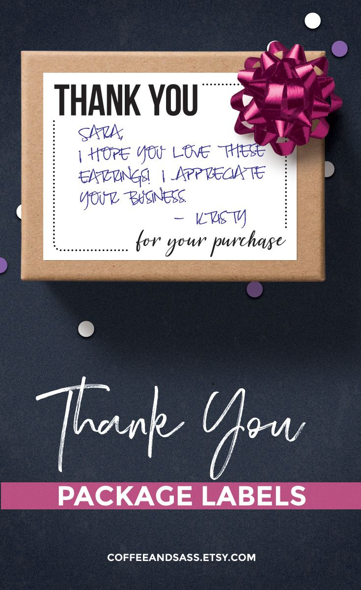 thank you for your purchase sticky printable thank you
