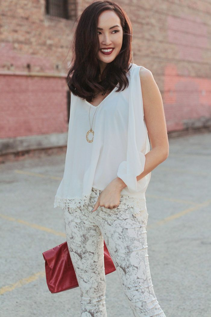 (vamped Up) White On White ( Lace Shirts & Blouses & Necklaces )