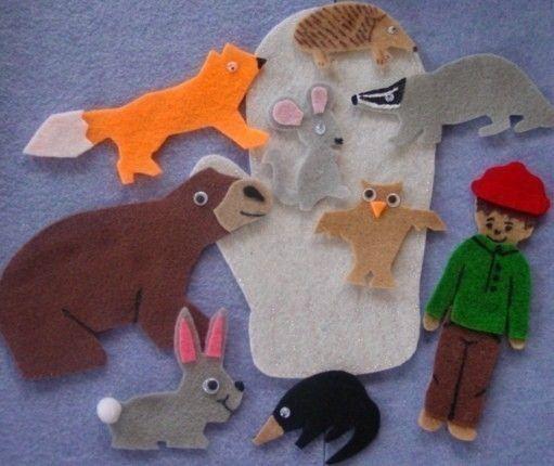 THE MITTEN Children's Flannel Board Felt Set by FunFeltStories