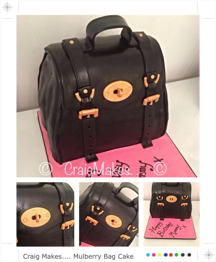 A mulberry bag style cake