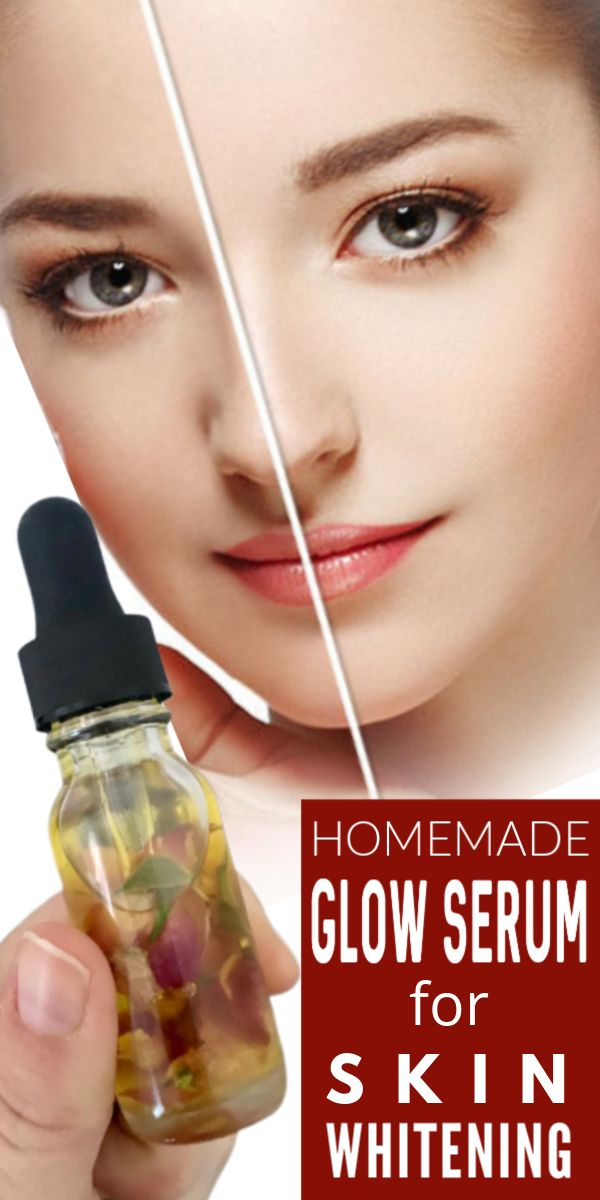 Homemade glow serum for skin whitening