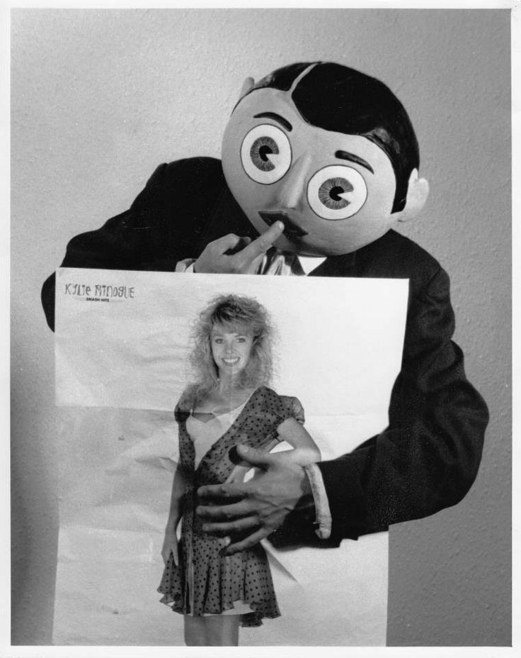 Frank Sidebottom with Kylie Minogue's poster.
