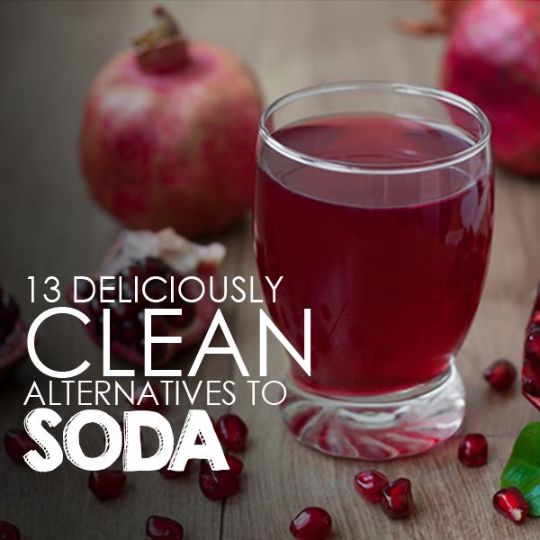 Skip the soda!  Here are 13 Deliciously Clean Alternatives to Soda.  #cleaneating #drinkrecipes #skipthesoda