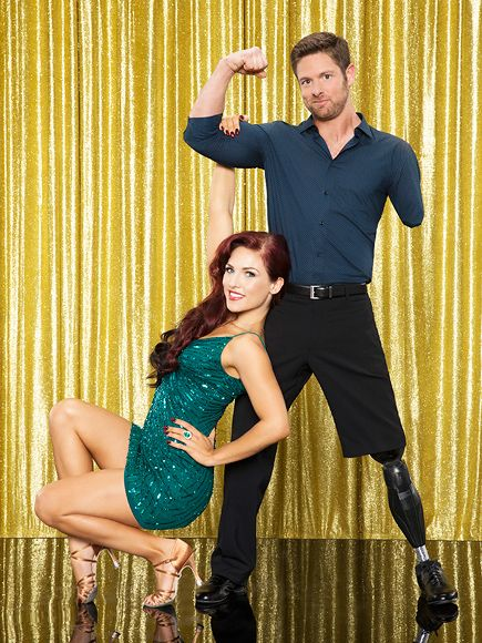 """Dancing with the Stars :  NOAH GALLOWAY   Partner: Sharna BurgessAfter losing an arm and a leg in a 2005 Improvised Explosive Device attack in Iraq, the army veteran was withdrawn, out of shape and depressed, according to his ABC bio. Now a personal trainer and motivational speaker, he's ready to be an inspiration. """"No excuses! I am excited to represent millions of veterans and to show my kids that they can do anything,"""" he told Men's Health."""