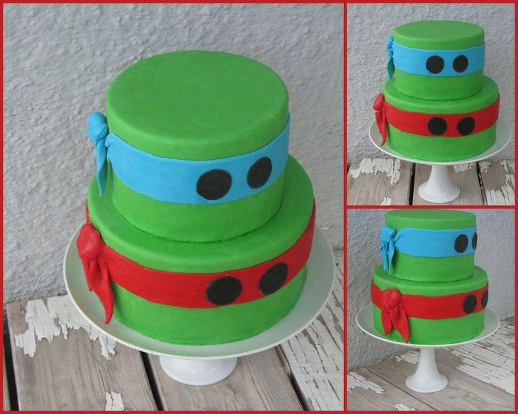 Torta de las tortugas mutantes Ninja.