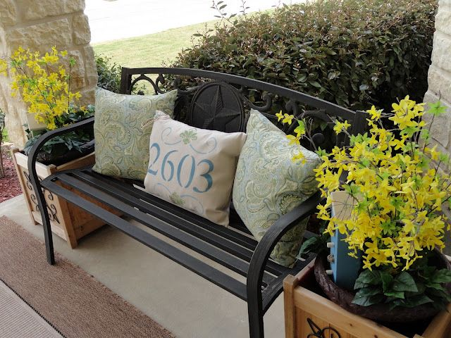 Put your address numbers on an outdoor pillow!