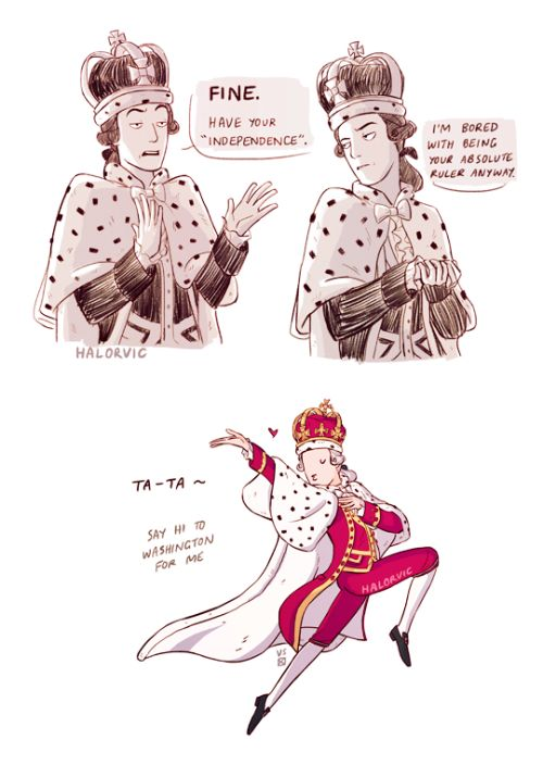 Sassy King George -- I know this is supposed to be Hamilton but it's exactly how I always imagined George III xD