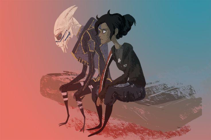 Mass Effect - Thoughts by Aelwen on DeviantArt