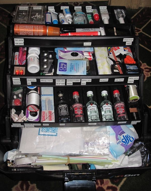 Wedding Emergency Kit - Tackle Box. Youll be the best Maid of Honor ever with this kit