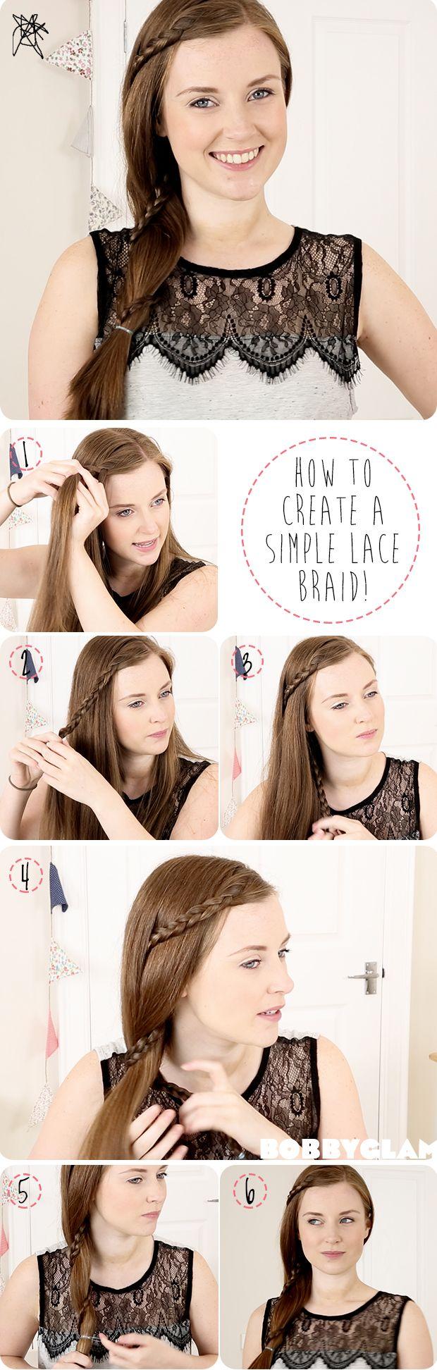 Lace Braid Hair Tutorial