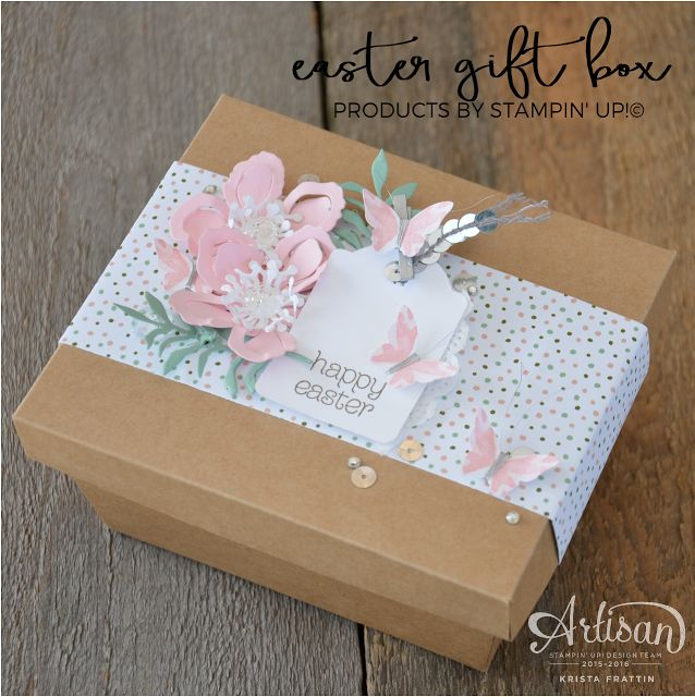 209 best su treat bags boxes images on pinterest gift wrapping stampin dolce easter gift box fancy friday blog hop negle Images