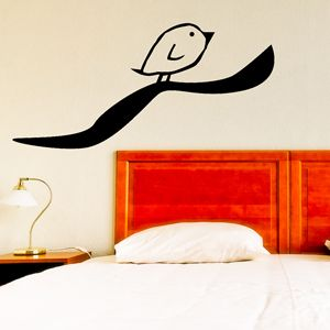Stikka wallsticker Black Bird AN27