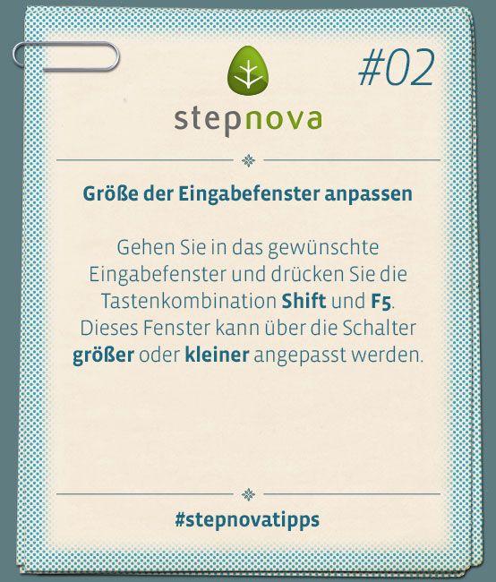 Tipp2: Größe der Eingabefenster ändern. Nun jede Woche der neueste stepnova-Tipp #stepnovatipps #beruflicheBildung #Dokumentation #Software