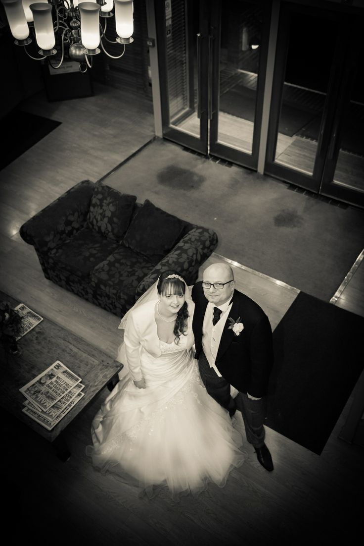newly weds taken from above