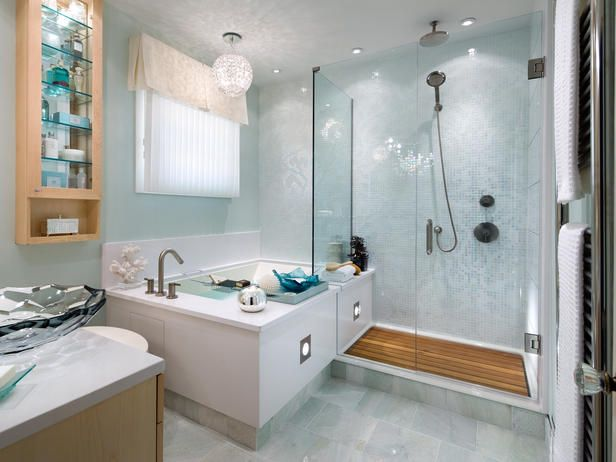 Smaller master that still fits a bath and a shower! The frameless shower keeps the space feeling bigger!