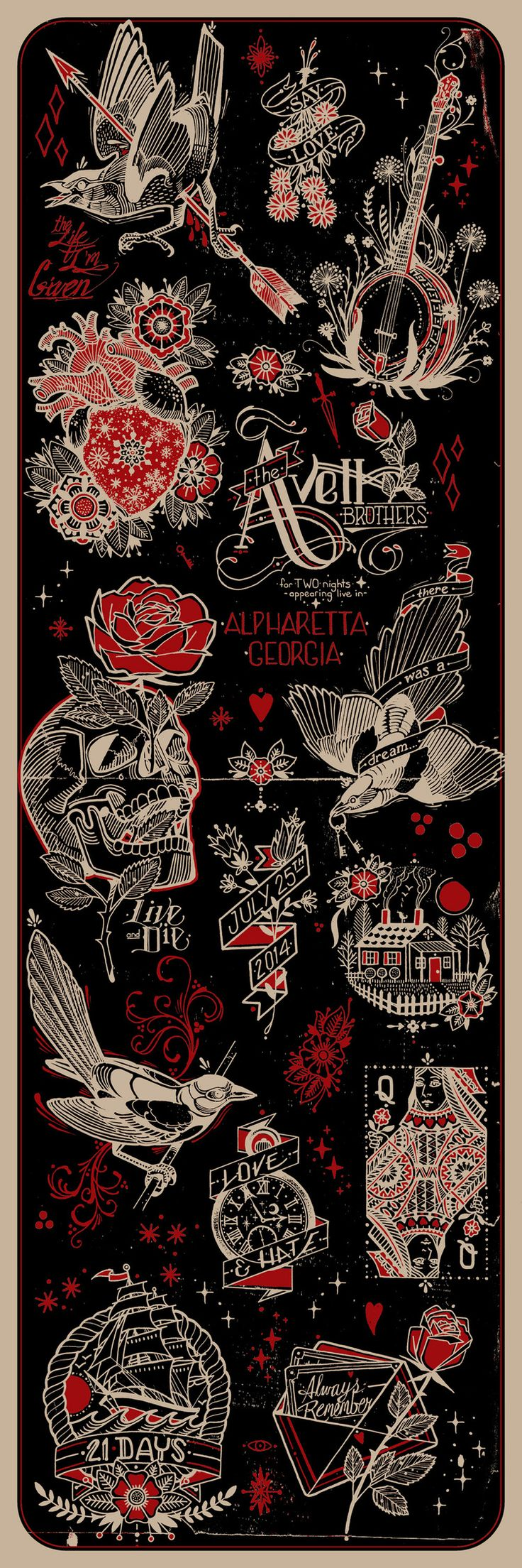 New Avett Brothers posters from David Hale
