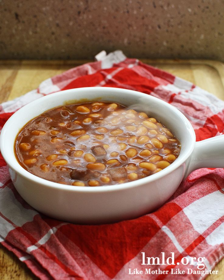 BBQ Baked Beans made in the Crock Pot.