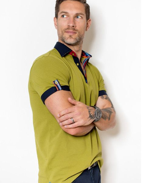 Dark yellow polo shirt for men by Maceoo