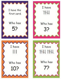 I have who has (numbers/tally marks) First Grade Fever!