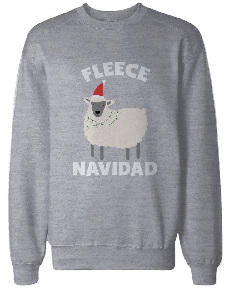 Feliz Navidad Christmas Sweatshirts Funny Holiday Pullover Fleece Sweaters                                                                                                                                                                                 More