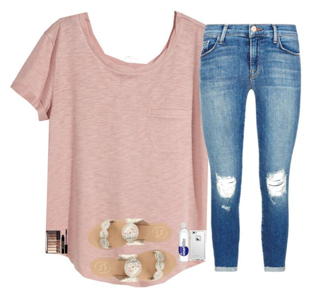 """""""does this look okay??"""" by nc-preppy-living ❤ liked on Polyvore featuring H&M, J Brand, Kendra Scott, Jack Rogers, Lord & Berry and LifeProof"""