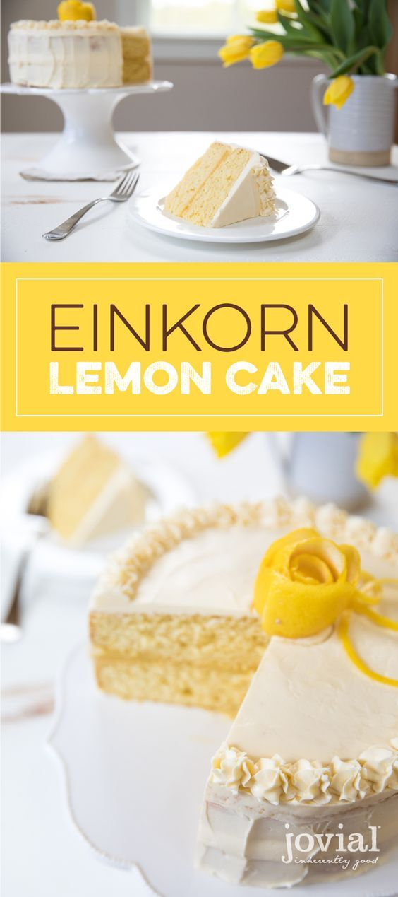 Einkorn Lemon Cake | jovial foods Inc.