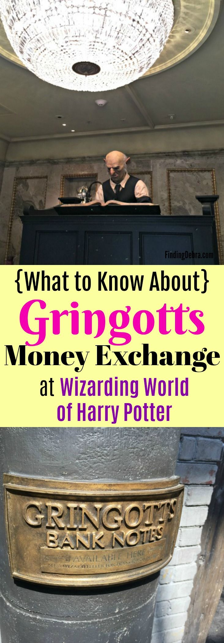 Gringotts Money Exchange -  - what to know about this unique experience at Universal Studios Orlando in the Wizarding World of Harry Potter (Diagon Alley) #UniversalPartner #harrypotter #UniversalStudios #TheWizardingWorldofHarryPotter #FamilyTravel
