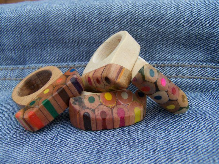 Geraldine wood pencils rings