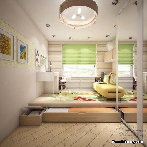 Space Saving Designs For Small Kids Rooms: 228 Best Loft & Under Podium Bed Images On Pinterest