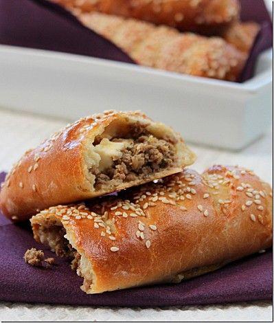 Buns à la viande hachée - pain brioché farci