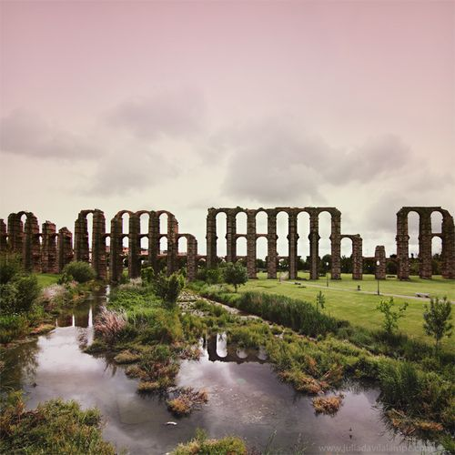 aquaduct - Merida, Spain this was even more beautiful in person