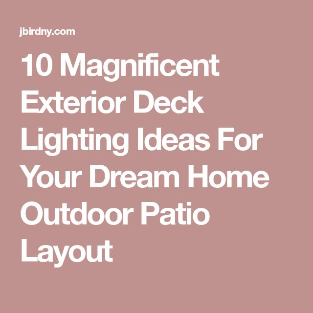 Deck Lights Pinterest: Best 25+ Deck Lighting Ideas On Pinterest
