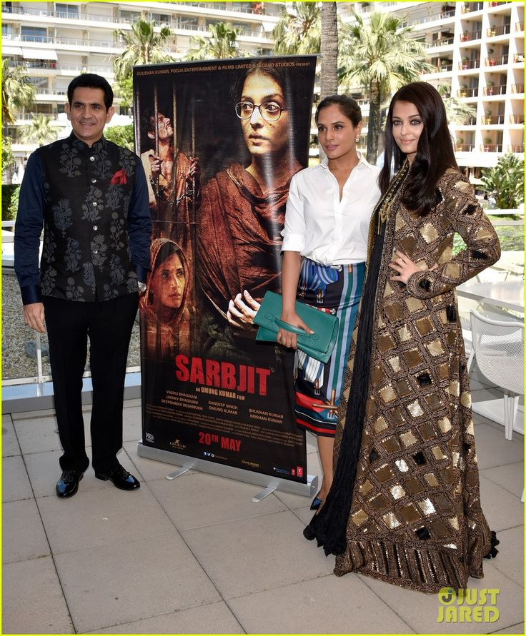 Aishwarya Rai Promotes 'Sarbjit' at Cannes 2016! #Cannes Film Festival 2016 Red Carpet Fashion #Rami #Kadi #Couture, #Aishwarya #Rai, #Bollywood, #ShahRukhKhan, #India #Amitabh #Bachchan #saree