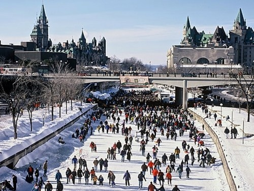 Rideau Canal (Winter) - The world's longest outdoor skating rink!