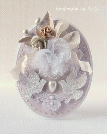 handmade by ArtIs: Dwa gołąbki i kurs na tiulowy kwiat http://izabellw.blogspot.com/