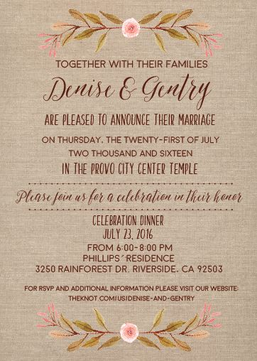 29 best Burlap Wedding Invitations images on Pinterest Burlap