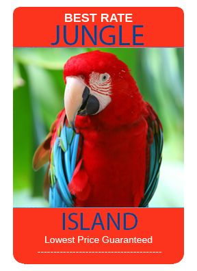 Miami's Jungle Island is a great local attraction, located on the causeway between Downtown Miami and Miami Beach it is close to the beach and a great way to spend an afternoon.  With three animal shows daily this is a great place for the entire family.  For the best prices and deals check out www.MiamiSightSeeingTours.com