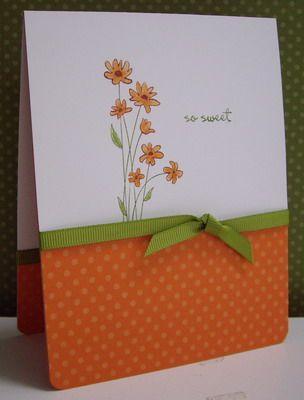 Stampin up: Spring Flowers, Card Idea, Cards Flor, Orange Flower, Card Design, Dream Cars, Card Stampin, Stampin Up Card, Paper Crafts
