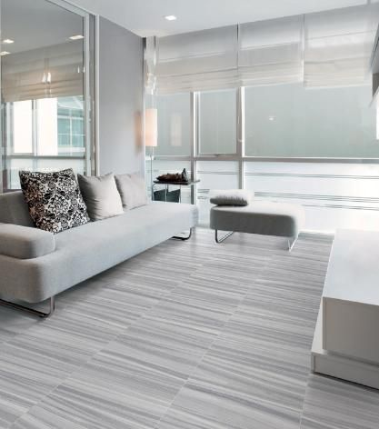 Krea Silver Porcelain Tile 12x24 And 2x2 Mosaic 3x12