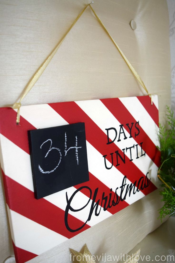 Make your own countdown sign for Christmas