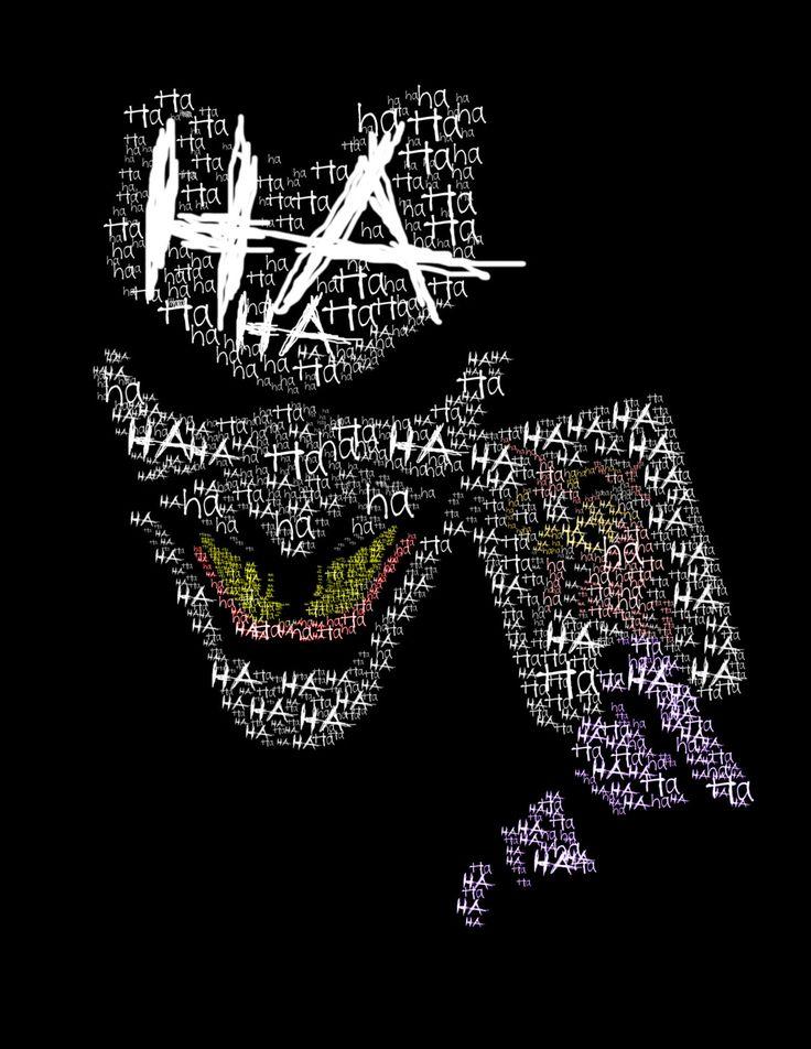 Joker's Last LaughTypography Print No Background by WordPlayPrints