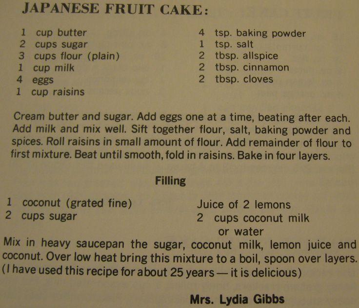 Granny Fruit Cake Recipe