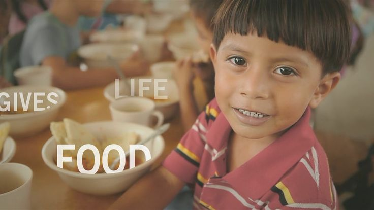 Hope is giving food. Food is giving life.